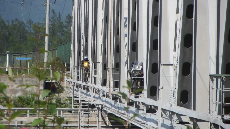 Abenteuerreise Sibirien Wolfgang Klentzau, Eisenbahnbrücke