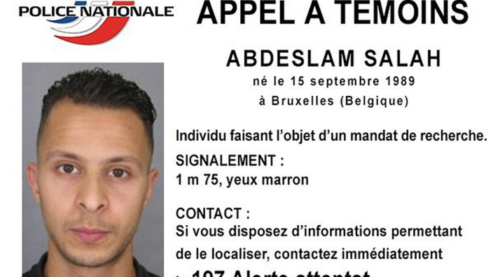 File of a Handout picture shows Belgian-born Abdeslam Salah seen on a call for witnesses notice released by the French Police Nationale information services on their twitter account