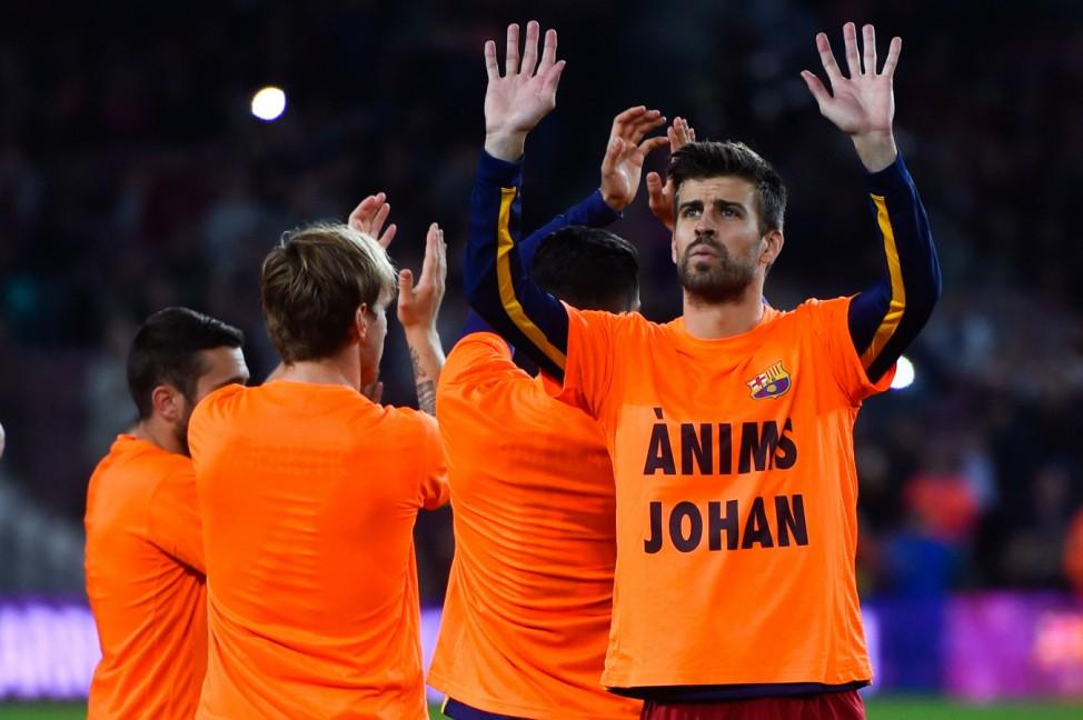 FC Barcelona v SD Eibar - La Liga; Cruyff