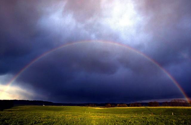 Regenbogenwetter in Bayern