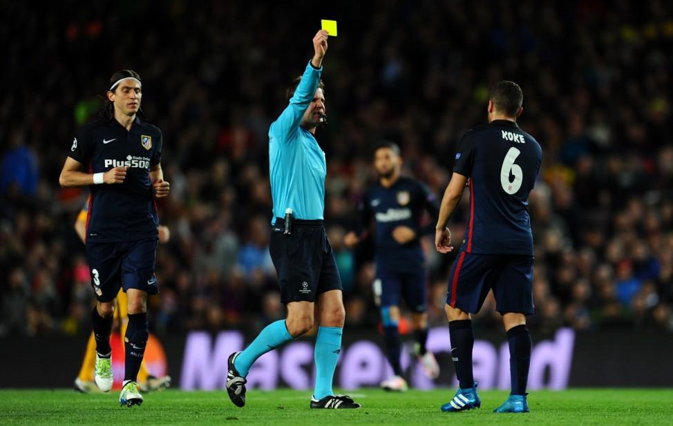 FC Barcelona v Club Atletico de Madrid  - UEFA Champions League Quarter Final: First Leg