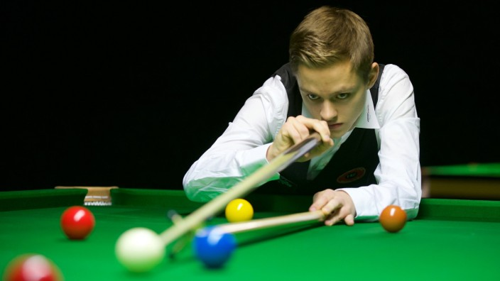 Snooker Berlin 06 02 2015 German Masters Lukas Kleckers GER; Snooker Lukas Kleckers