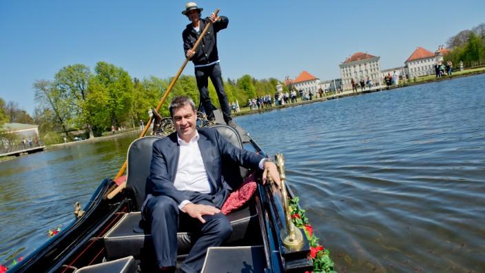 Markus Söder stellt Gondel vor