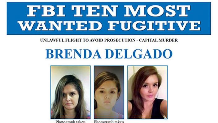 An FBI Most Wanted poster for Brenda Delgado