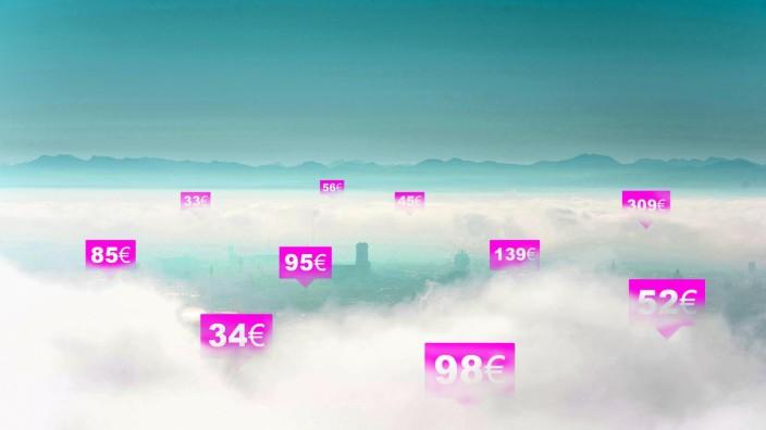 Zweckentfremdung: Über Portale wie Airbnb werden zahlreiche Wohnungen in München angeboten, die eigentlich als Wohnraum gebraucht würden. Illustration: Dennis Schmidt