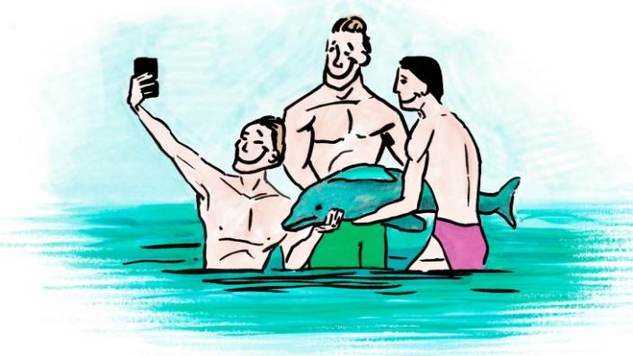 "Illustration für Serie ""Gute Reise"" Reiseethik Ethik"