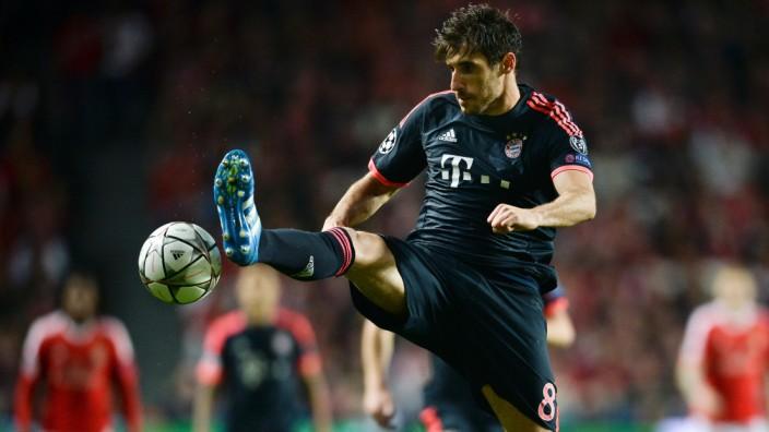 FC Bayern in der Champions League: Hatte viel Glück in Lissabon: Bayerns Javi Martínez.
