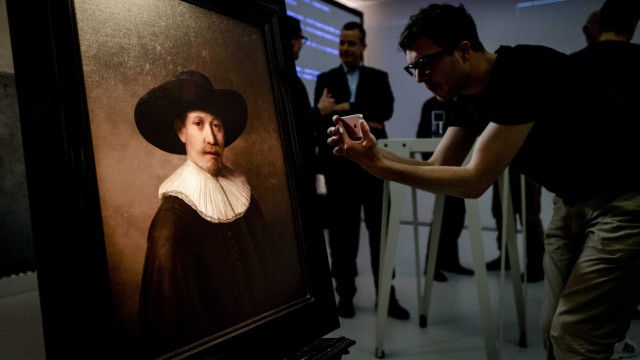 Unveiling of The Next Rembrandt painting in Amsterdam