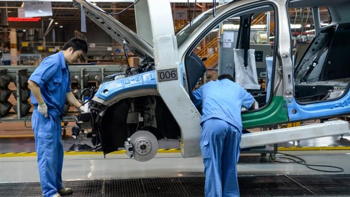 Volkswagen Werk in Shanghai