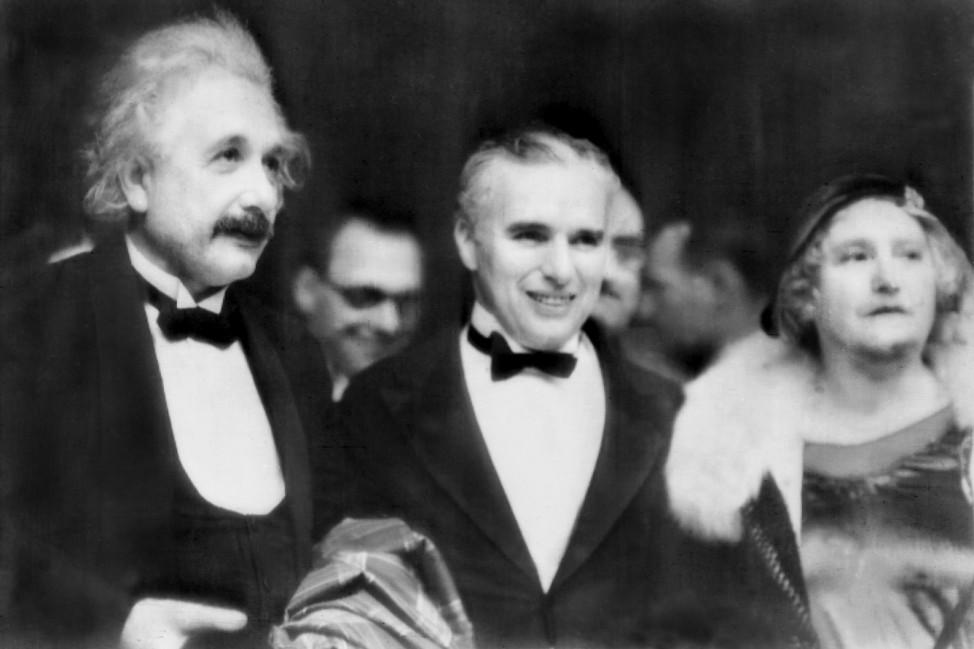 Albert Einstein und Charles Chaplin, 1931
