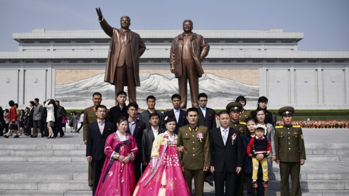 Day of the Sun in Pyongyang, North Korea