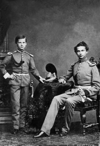 König Ludwig II. und sein Bruder Otto, 1864