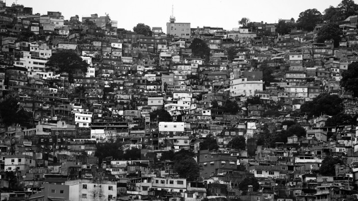 BESTPIX - England Media Access - 2014 FIFA World Cup Brazil; A general view of the Rocinha favela as the