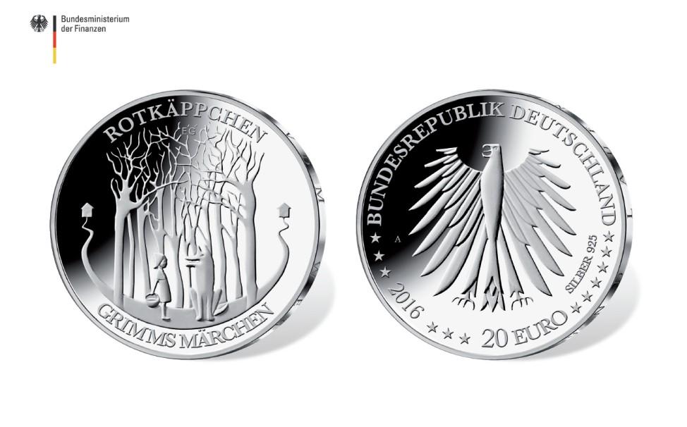 Münze Rotkäppchen