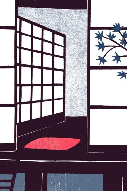 """Wiederentdeckung: Für die Neuausgabe von """"Japans Geister"""" schuf Franziska Neubert 17 Holzschnitte. Abbildung aus dem besprochenen Band"""