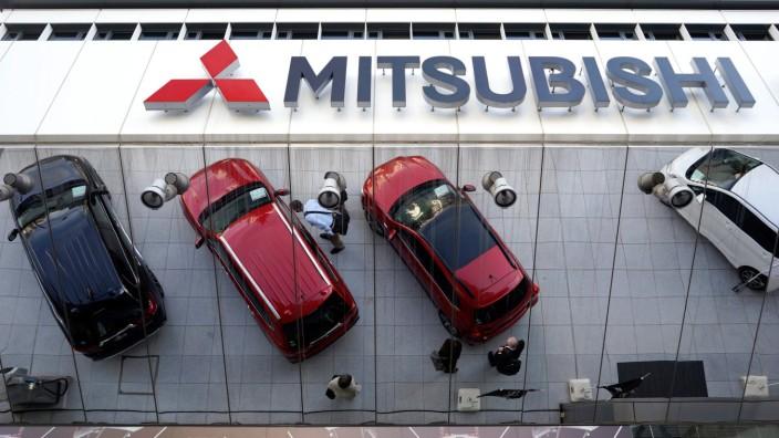Das Hauptquartier von Mitsubishi Motors in Tokio