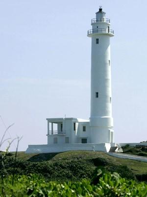 Leuchtturm steht am nordwestlichen Ende von Green Island, vor Taiwan