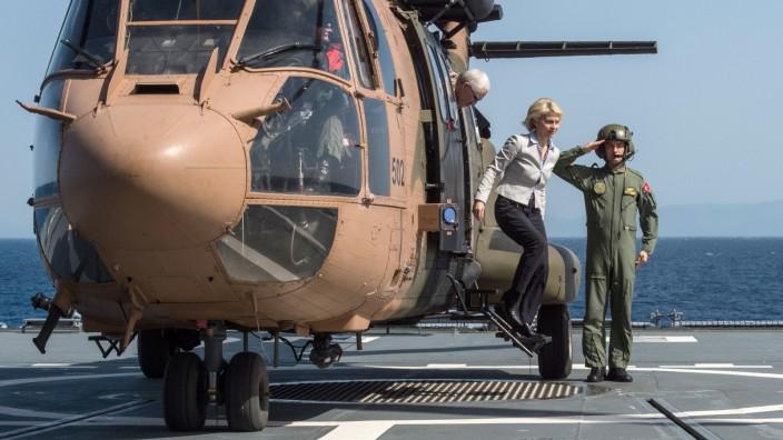 Verteidigungsministerin von der Leyen in der Ägäis