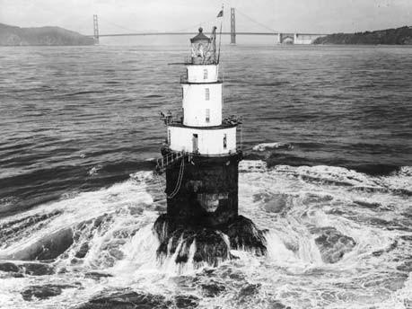 Mile Rocks Lighthouse, Golden Gate Area von San Francisco