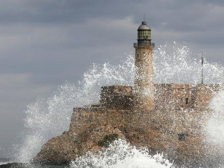 Morro Castle an der Malecon-Küste in Havanna, Kuba
