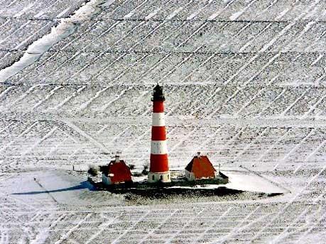 Leuchtturm von Westerhever an der Nordsee