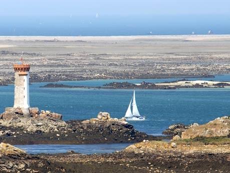 Leuchtturm Lacroix an der Île de Bréhat