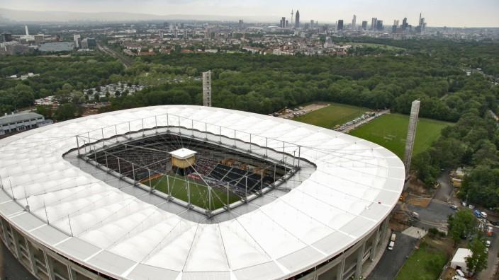 Erhöhte Ansicht des Stadions, Commerzbank-Arena, Frankfurt, Hessen, Deutschland