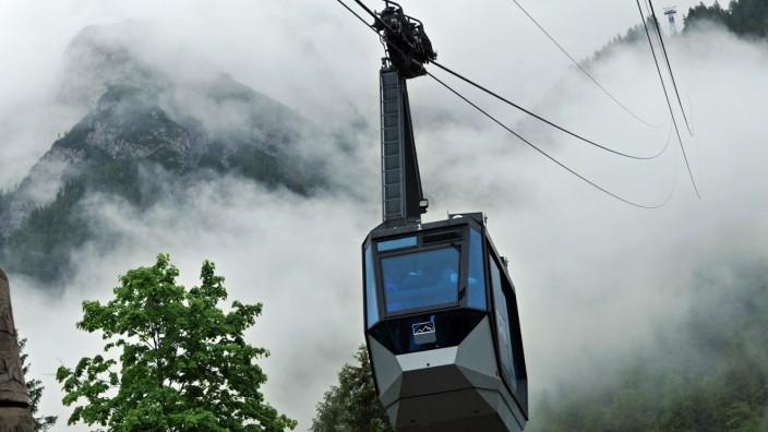 Karwendelbahn im Nebel