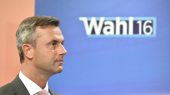 Wahl in Österreich: Norbert Hofer, Präsidentschaftskandidat der FPÖ, am Wahlabend.