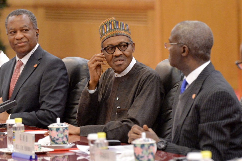 Nigerian President Muhammadu Buhari on visit in China
