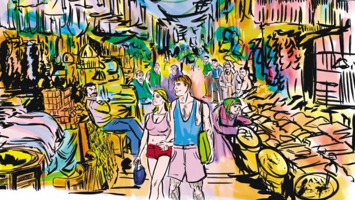 Tourismus und Kulturschock: Illustration: Alper Özer