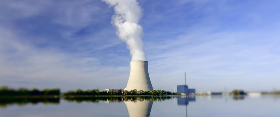 Atomkraftwerk Ohu bei Landshut Bayern Deutschland Nuclear power plant