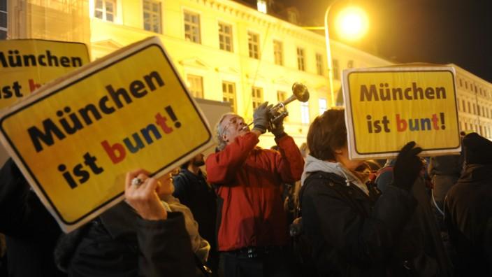Anti-Pegida Demonstration in München, 2016