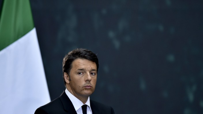 Italien: Sein politisches Schicksal hängt er an den Ausgang des Volksentscheids im Herbst: Italiens Regierungschef Matteo Renzi.