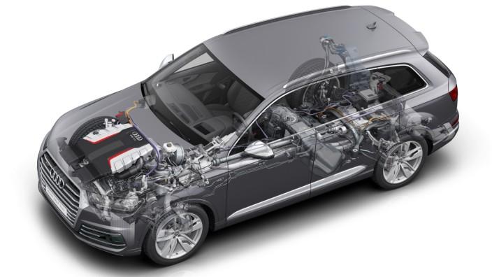Der Antriebsstrang des neuen Audi SQ7 TDI