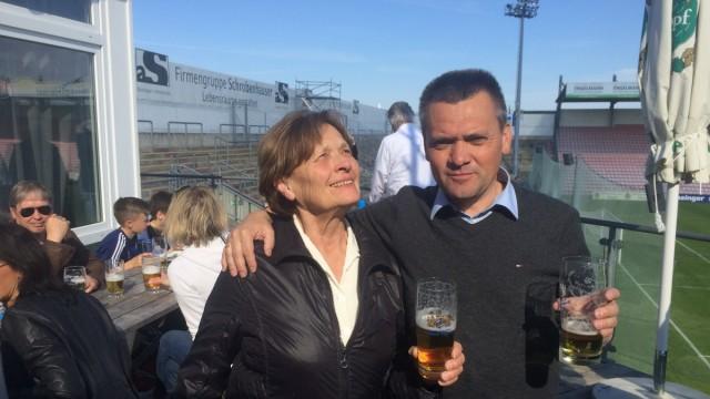 Manfred Schwabl und seine Mutter Christiana