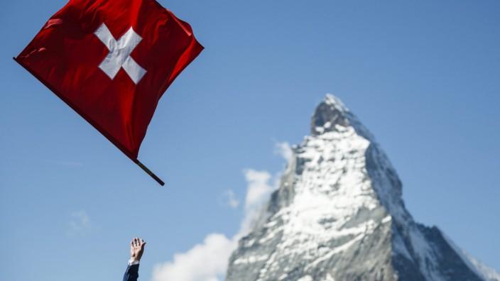Schweiz, Fahne, Matterhorn