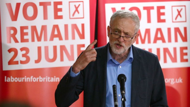 Jeremy Corbyn Attends Student Voter Registration Rally