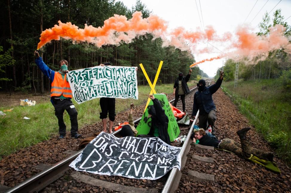 Tagebau-Besetzung 'Ende Gelände' gegen Braunkohle
