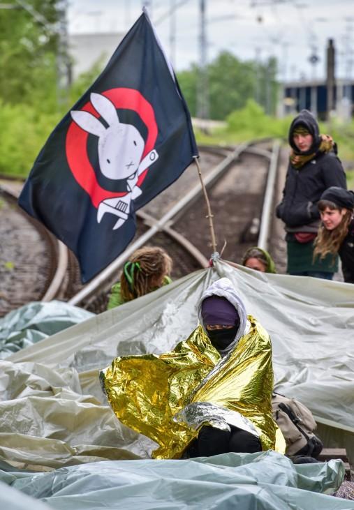 Proteste gegen Braunkohle in der Lausitz