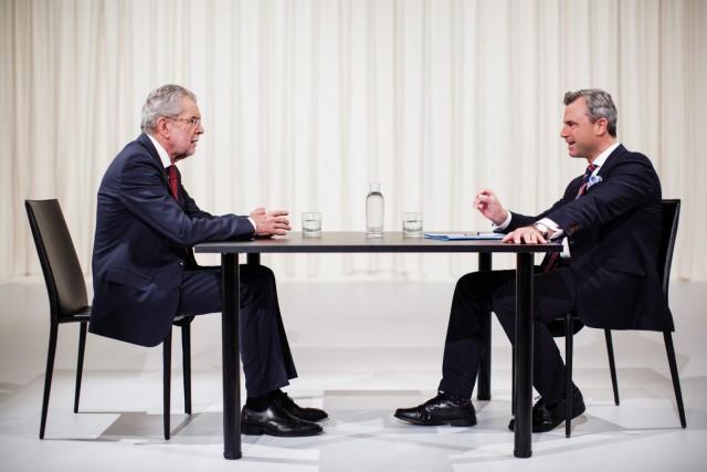 TV-Duell in Österreich: Alexander Van der Bellen und Norbert Hofer