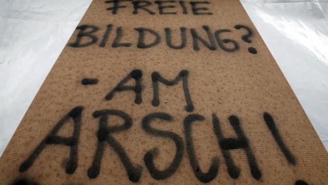 Proteste in Berlin für bessere Lern- und Studienbedingungen
