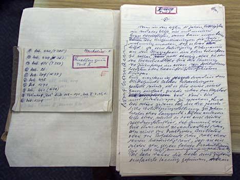 Tagebuchaufzeichnungen von Adolf Eichmann