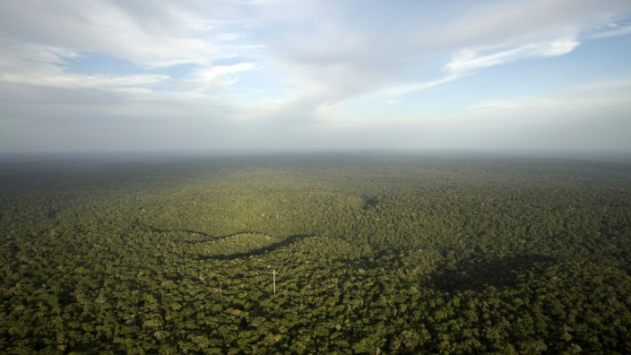 A view is seen from the Amazon Tall Tower Observatory (ATTO) in Sao Sebastiao do Uatuma