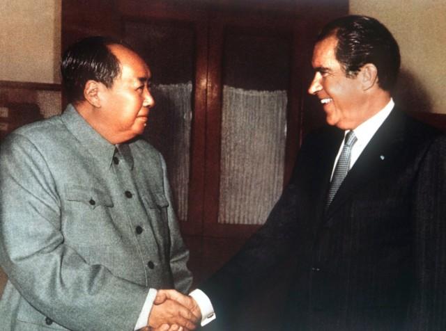 Mao Tsetung und Richard Nixon