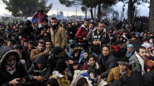 Flüchtlingslager bei Idomeni