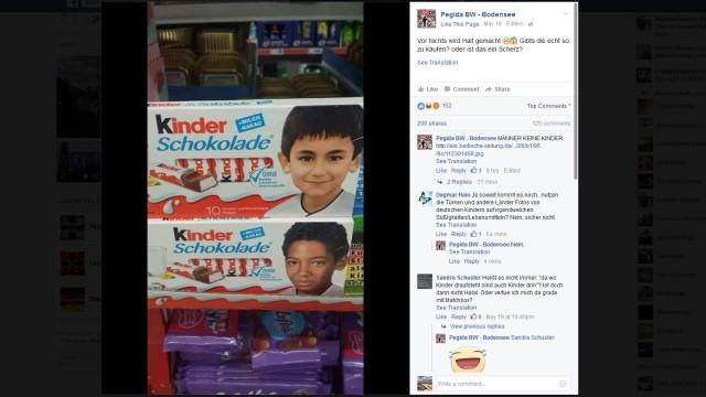Pegida gegen Kinderschokolade