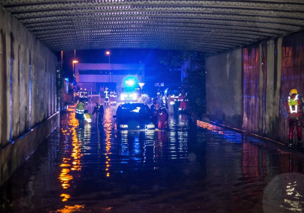 Überschwemmung nach Unwetter