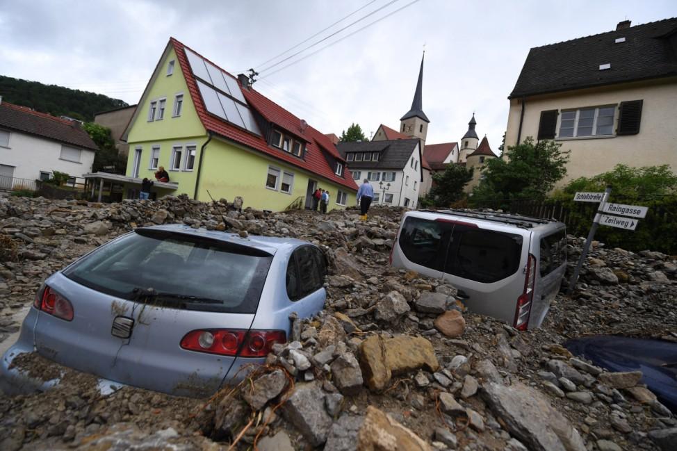 Unwetter in Süddeutschland - Braunsbach