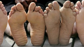 Marathon Füße